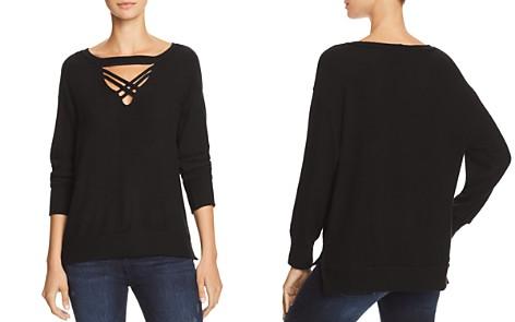 LNA Lola Brushed Cutout Sweatshirt - Bloomingdale's_2