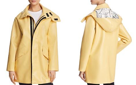 Avec Les Filles Patent Raincoat - 100% Exclusive - Bloomingdale's_2