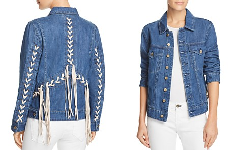 BLANKNYC Lace-Up Denim Jacket - 100% Exclusive - Bloomingdale's_2