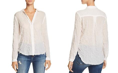 Bella Dahl Frayed-Hem Button-Down Shirt - Bloomingdale's_2