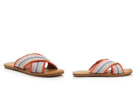 TOMS Women's Viv Woven Slide Sandals - 100% Exclusive - Bloomingdale's_2