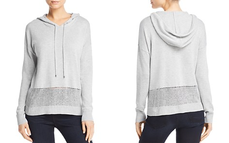 AQUA Open-Knit Detail Hooded Sweater - 100% Exclusive - Bloomingdale's_2