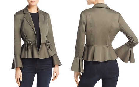AQUA Lace-Up Peplum Jacket - 100% Exclusive - Bloomingdale's_2