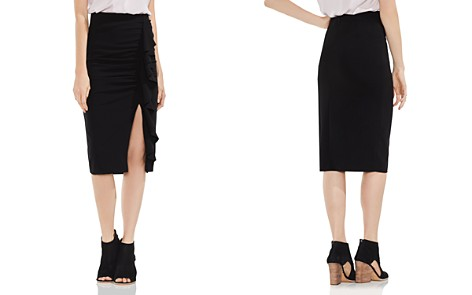 VINCE CAMUTO Ruffle Front Ponte Pencil Skirt - Bloomingdale's_2