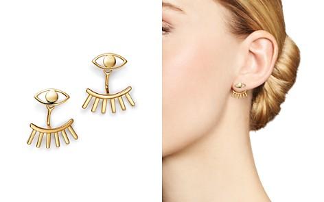 Moon & Meadow Eye & Lash Ear Jackets in 14K Yellow Gold - 100% Exclusive - Bloomingdale's_2