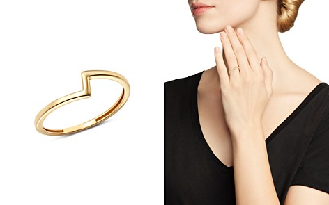Moon & Meadow Asymmetric Band Ring in 14K Yellow Gold - 100% Exclusive - Bloomingdale's_2