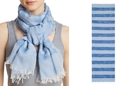 AQUA Camo Striped Oblong Scarf - 100% Exclusive - Bloomingdale's_2