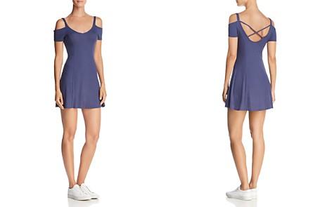 En Créme Cold-Shoulder Rib-Knit Mini Dress - 100% Exclusive - Bloomingdale's_2