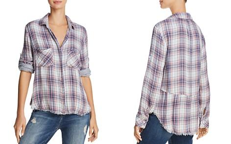 Bella Dahl Frayed-Hem Plaid Button-Down Shirt - Bloomingdale's_2
