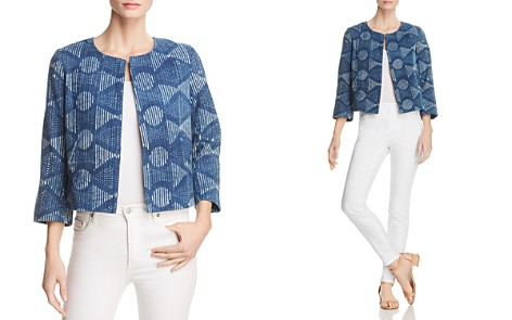 Eileen Fisher Organic Cotton Cropped Jacket - Bloomingdale's_2
