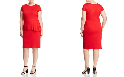 Love Ady Plus Peplum Waist Ponte Sheath Dress - 100% Exclusive - Bloomingdale's_2