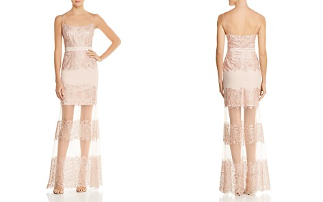 Aidan by Aidan Mattox Embellished Illusion Gown - 100% Exclusive - Bloomingdale's_2