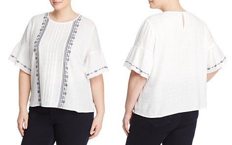 VINCE CAMUTO Plus Embroidered Bell Sleeve Top - Bloomingdale's_2
