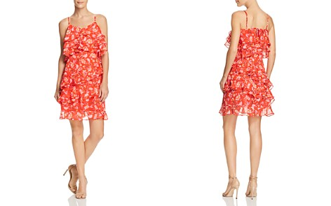 AQUA Ruffled Floral Paisley Print Dress - 100% Exclusive - Bloomingdale's_2