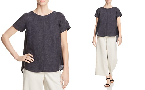 Eileen Fisher Organic Linen High/Low Top - Bloomingdale's_2