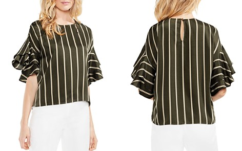 VINCE CAMUTO Striped Ruffle-Sleeve Top - Bloomingdale's_2