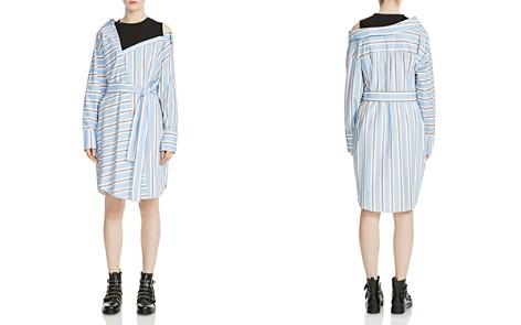Maje Riavi Asymmetric Striped Shirt Dress - Bloomingdale's_2