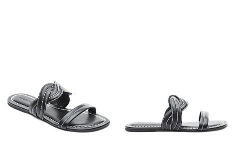 Bernardo Women's Leather Double Strap Slide Sandals - Bloomingdale's_2
