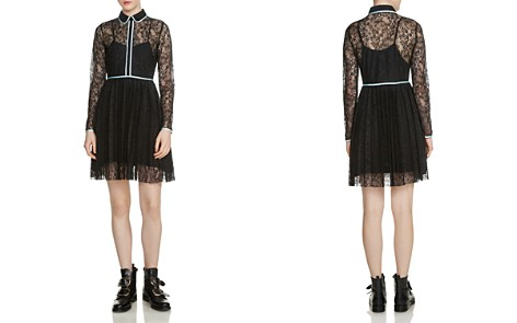 Maje Rabilo Pleated Lace Dress - Bloomingdale's_2