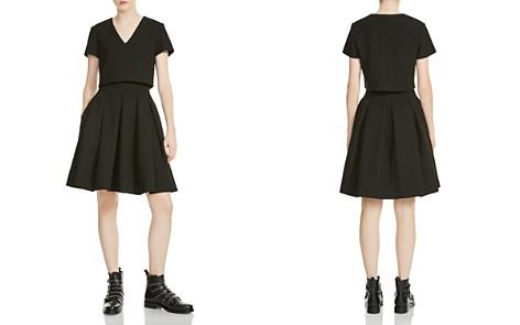 Maje Rozane Bodice Overlay A-line Dress - Bloomingdale's_2