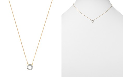 "MATEO 14K Yellow Gold Diamond Mini Circle Necklace, 16"" - Bloomingdale's_2"