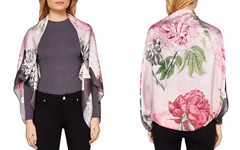Ted Baker Zamzic Palace Gardens Silk Cape Scarf - Bloomingdale's_2