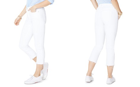 NYDJ Petites Released-Hem Capri Jeans in Optic White - Bloomingdale's_2