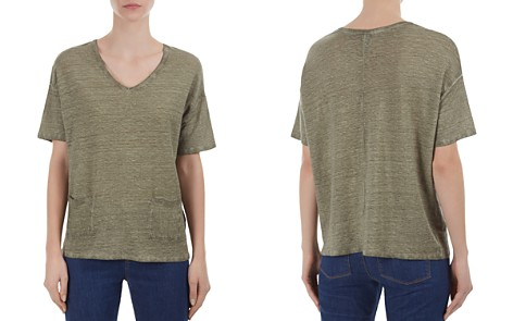 Gerard Darel Pierrot Patch-Pocket Linen Tee - Bloomingdale's_2