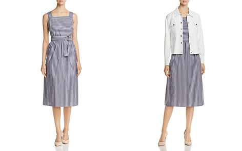 Lafayette 148 New York Armilla Mixed-Stripe Belted Dress - 100% Exclusive - Bloomingdale's_2