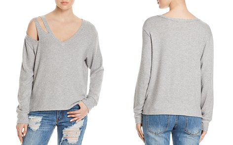 LNA Shoulder-Cutout Sweatshirt - Bloomingdale's_2