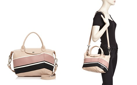 Longchamp Le Pliage Chevron Small Leather Tote - Bloomingdale's_2