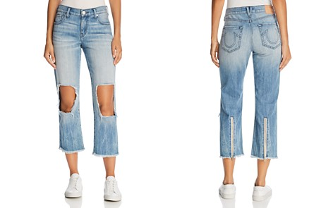 True Religion Star Crop Straight Jeans in Second Quarter - Bloomingdale's_2