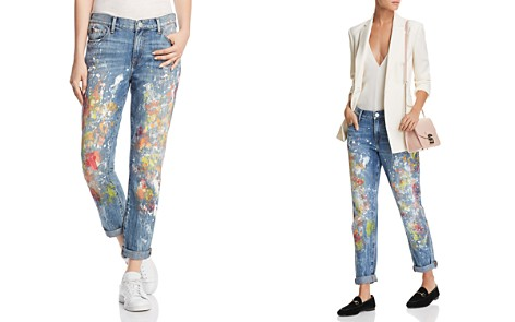 True Religion Cameron Boyfriend Jeans in Pop Art Paint - Bloomingdale's_2