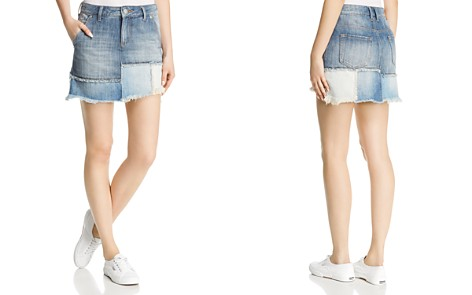 True Religion Layered Denim Mini Skirt in Triple Salute - Bloomingdale's_2