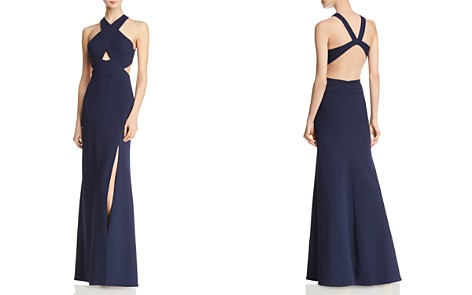 BCBGMAXAZRIA Crossover Cutout Gown - 100% Exclusive - Bloomingdale's_2