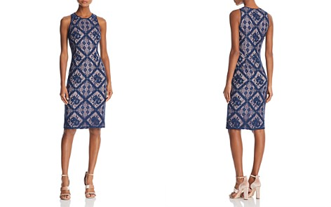 Adrianna Papell Sleeveless Lace Sheath Dress - Bloomingdale's_2