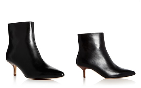 HALSTON HERITAGE Women's Faith Leather Kitten Heel Booties - Bloomingdale's_2