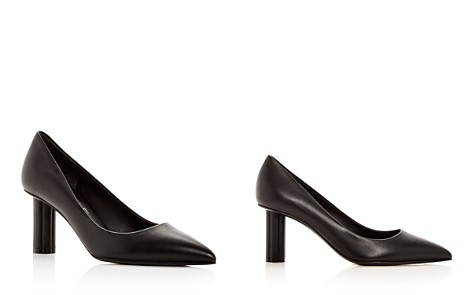 Salvatore Ferragamo Women's  Badia 70 Leather Flower Heel Pointed Toe Pumps - Bloomingdale's_2