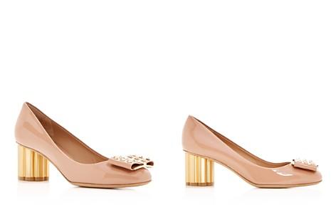 Salvatore Ferragamo Women's Capua 55 Patent Leather Floral Heel Pumps - Bloomingdale's_2