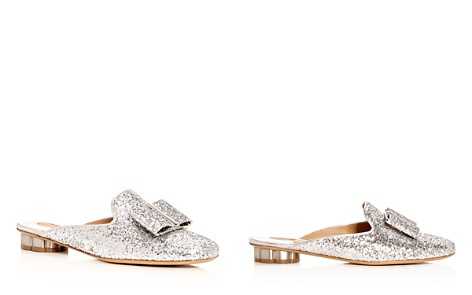 Salvatore Ferragamo Women's Glitter Flower Heel Mules - Bloomingdale's_2