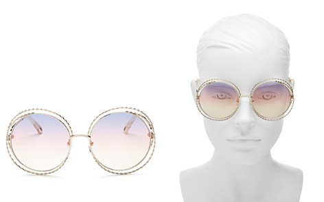 Chloé Carlina Torsade Oversized Round Sunglasses, 58mm - Bloomingdale's_2