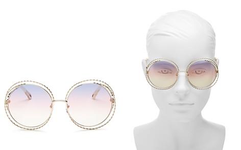 Chloé Carlina Torsade Oversized Round Sunglasses, 58mm - Bloomingdale's_2