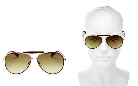 Longchamp Women's Heritage Family Brow Bar Aviator Sunglasses, 65mm - Bloomingdale's_2
