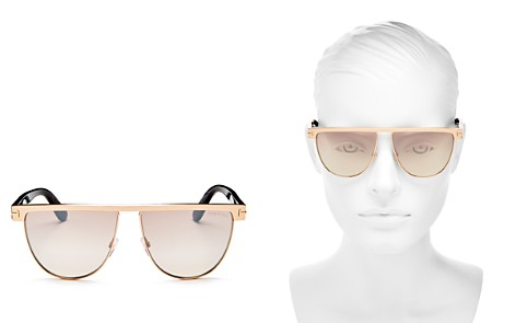 Tom Ford Stephanie Mirrored Flat Top Round Sunglasses, 60mm - Bloomingdale's_2