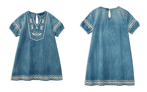 Polo Ralph Lauren Girls' Embroidered Denim Dress - Big Kid - Bloomingdale's_2