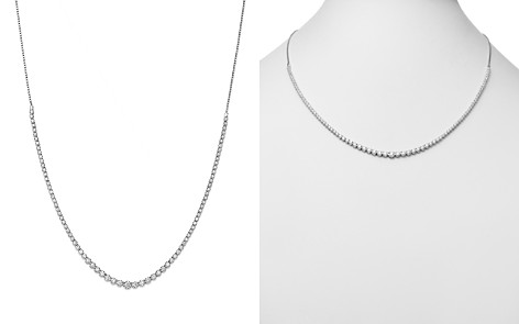 Bloomingdale's Diamond Graduated Bolo Necklace in 14K White Gold, 2.50 ct. t.w.- 100% Exclusive _2