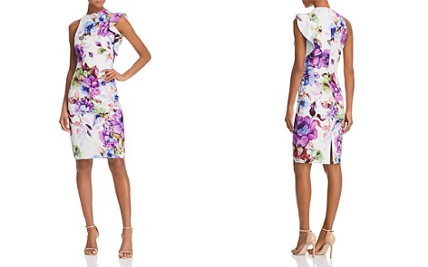 Black Halo Pabla Ruffle Floral-Print Sheath Dress - Bloomingdale's_2