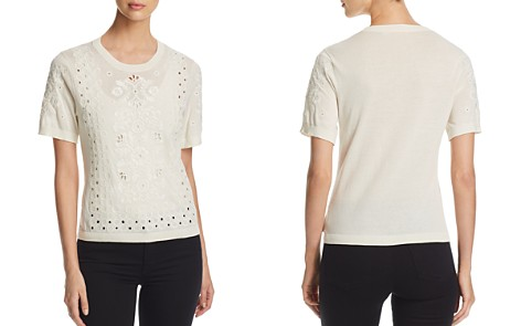 Tory Burch Channing Embroidered Eyelet Knit Top - Bloomingdale's_2