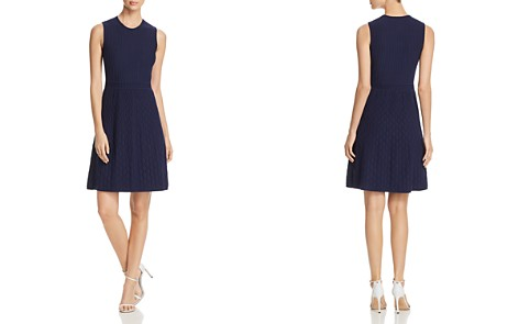 Tory Burch Liam Textured Fit-and-Flare Dress - Bloomingdale's_2