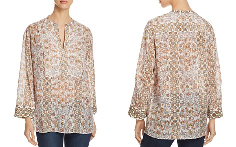 Tory Burch Adrian Printed Split-Neck Tunic - Bloomingdale's_2
